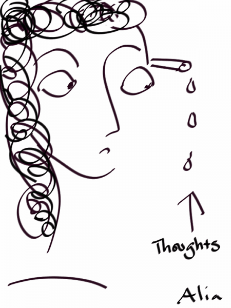 Thoughts, drawn by Alia Thabit on a Note 3 w/ Sketchbook for Galaxy