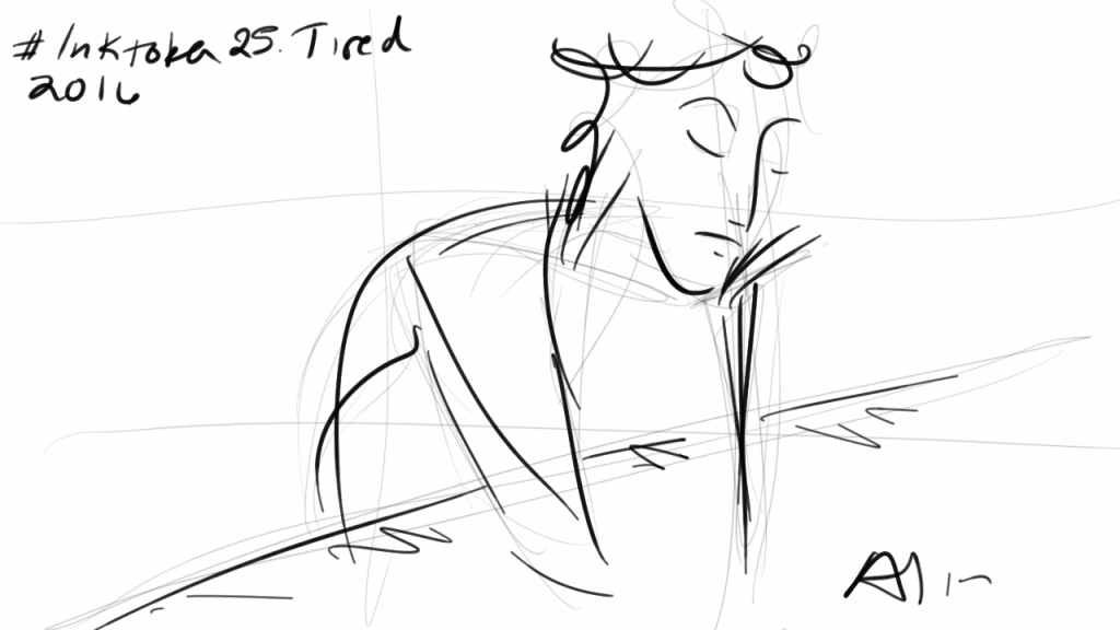 #inktober 25. Tired. Drawn with Note 3 + Sketchbook for Galaxy