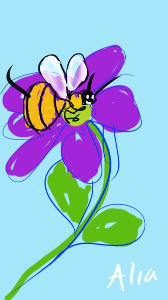 bees gather nectar pollen biological mandate